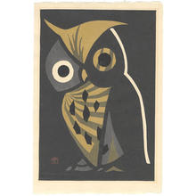Kawano Kaoru: The Big Owl - Japanese Art Open Database
