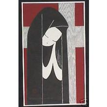 Kawano Kaoru: Unknown, Girl Praying - Japanese Art Open Database