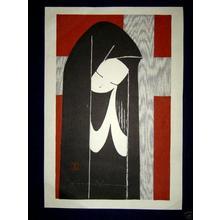 Kawano Kaoru: Unknown, Girl Praying - Japanese Art Open Database
