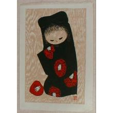 河野薫: Unknown, Little Girl- Camellia - Japanese Art Open Database