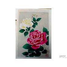Kawarazaki Shodo: Roses - Japanese Art Open Database