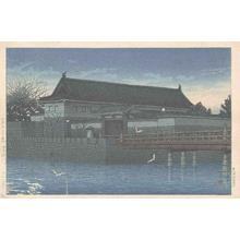川瀬巴水: Hirakawa gate - Hirakawa mon - Japanese Art Open Database