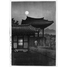 Kawase Hasui: The Pulguksa Temple, Kyongju — 慶州 佛国寺 - Japanese Art Open Database