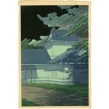 川瀬巴水: Aoba Castle in Sendai - Japanese Art Open Database