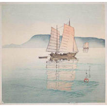 川瀬巴水: Morning at Takamatsu - Japanese Art Open Database
