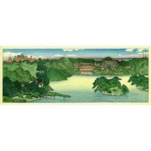 Kawase Hasui: Panoramic view of Iwasaki Family Villa — 大泉水の全景 - Japanese Art Open Database