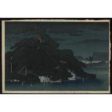 川瀬巴水: Rainy Night on the Pine Islet Matsunoshima - Japanese Art Open Database
