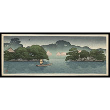 Kawase Hasui: Small Boat in a Spring Shower - Japanese Art Open Database