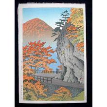 Kawase Hasui: Autumn at Saruiwa, Shiobara (Okuirise) - Japanese Art Open Database