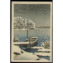 Kawase Hasui: Boat Snow - Japanese Art Open Database