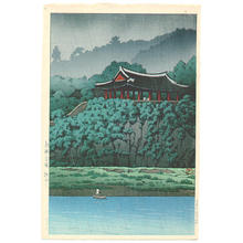 川瀬巴水: Botan Dai at Ping-yang, Korea — 朝鮮平嬢 - Japanese Art Open Database