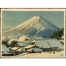 川瀬巴水: Clearing After a Snowfall, Yoshida - Japanese Art Open Database