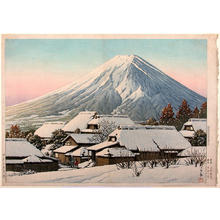 Kawase Hasui: Clearing After a Snowfall, Yoshida - Japanese Art Open Database