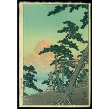 川瀬巴水: Clouds Aglow with the Setting Sun - Japanese Art Open Database