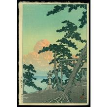 川瀬巴水: Clouds Aglow with the Setting Sun - Japanese Art Open Database
