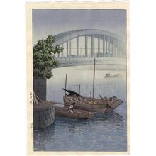 川瀬巴水: Eitaibashi Bridge - Japanese Art Open Database