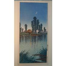 川瀬巴水: Evening at Itako — 潮来の夕暮 - Japanese Art Open Database
