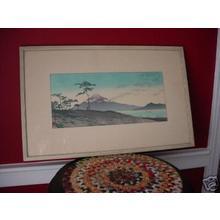 川瀬巴水: Evening at Miho — Miho no Yu - Japanese Art Open Database
