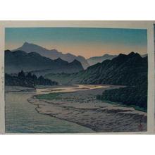 Kawase Hasui: Evening at Minano, Chichubu - Japanese Art Open Database