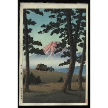 川瀬巴水: Evening at Tagonoura — Tago no Ura no Yuu - Japanese Art Open Database