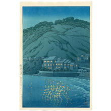 Kawase Hasui: Evening in Atami, View From the Abe Inn - Japanese Art Open Database