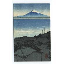Kawase Hasui: Fuji across Harbour - Japanese Art Open Database