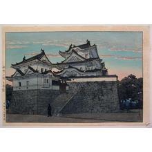 川瀬巴水: Hakuho Castle, Iga Ueno - Japanese Art Open Database