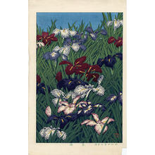 川瀬巴水: Iris Flowers - Japanese Art Open Database