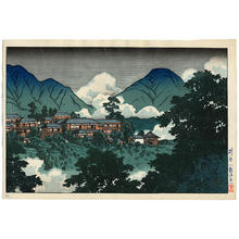 Kawase Hasui: Kannonji Temple in Beppu- Kankaiji Temple - Japanese Art Open Database