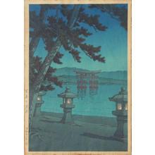 川瀬巴水: MOONLIGHT NIGHT AT MIYAJIMA - Japanese Art Open Database