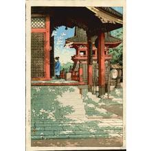 川瀬巴水: Meguro Fudo Temple — 目黒不動堂 - Japanese Art Open Database