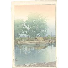 川瀬巴水: Morning At Tsuchiura - Japanese Art Open Database