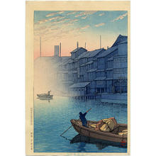 Kawase Hasui: Morning in Dotonbori, Osaka - Japanese Art Open Database