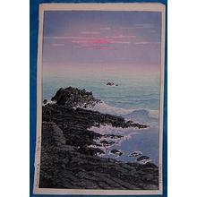 川瀬巴水: Morning of Cape Inubo - Japanese Art Open Database