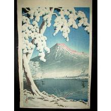 Kawase Hasui: Mt Fuji After Snow at Tagonoura Bay — 富士の雪渓(田子の浦 - Japanese Art Open Database