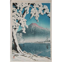 川瀬巴水: Mt Fuji After Snow at Tagonoura Bay — 富士の雪渓(田子の浦 - Japanese Art Open Database