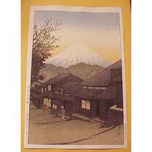 Kawase Hasui: Mt Fuji From Yuimachi at Suruga - Japanese Art Open Database