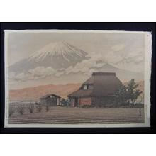 川瀬巴水: Mt. Fuji Seen from Narusawa — 鳴沢の富士 - Japanese Art Open Database