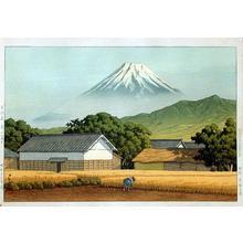 Kawase Hasui: Mt. Fuji from Hara on the Tokaido - Japanese Art Open Database