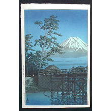 Kawase Hasui: Mt. Fuji in Moonlight, Kawaibashi - Japanese Art Open Database