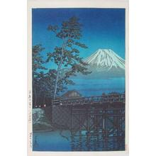 川瀬巴水: Mt. Fuji in Moonlight, Kawaibashi - Japanese Art Open Database