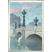 Kawase Hasui: Nihonbashi Bridge — 日本橋(夜明) - Japanese Art Open Database