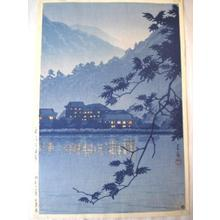 川瀬巴水: Nikko Yumoto Onsen - Japanese Art Open Database