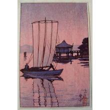 川瀬巴水: Ohmi Ukimido - Japanese Art Open Database