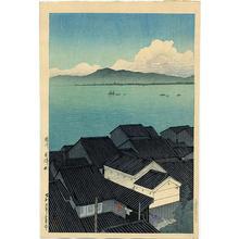 川瀬巴水: Okitsu-cho, Suruga - Japanese Art Open Database
