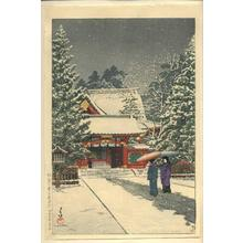 川瀬巴水: Shato no Yuki Hie Jinja - Japanese Art Open Database