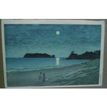 川瀬巴水: Shichiri Beach in Soshu - Japanese Art Open Database