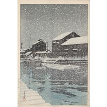 Kawase Hasui: Snow at Kiba - Kiba no yuki - Japanese Art Open Database