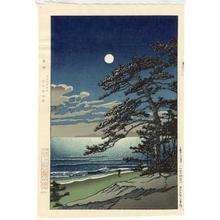 Kawase Hasui: Spring Moon at Ninomiya Beach - Japanese Art Open Database