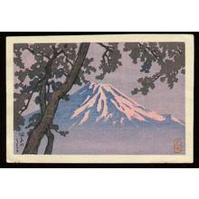 川瀬巴水: Tagonoura- Lake Tago - Japanese Art Open Database